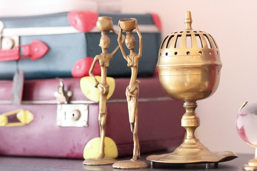 déco statuette africaine cuivre