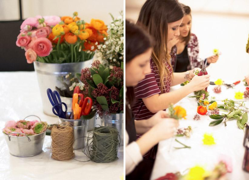 atelier DIY couronne de fleurs les fées Nature