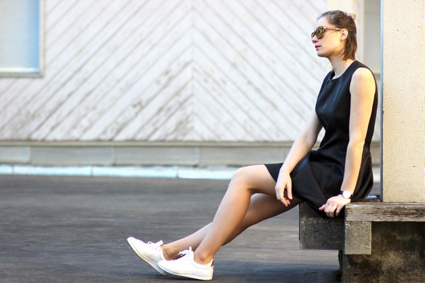 street look robe noire blog mode Artlex