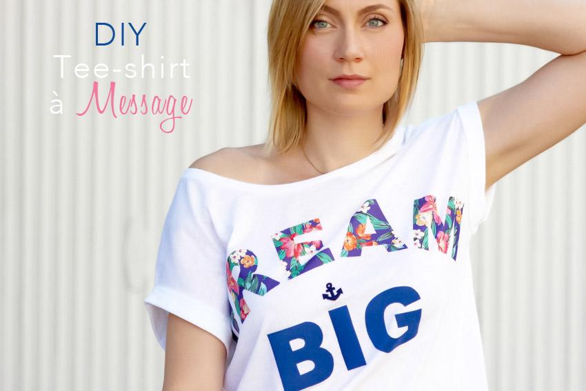 DIY tee-shirt mot imprimé blog DIY Artlex