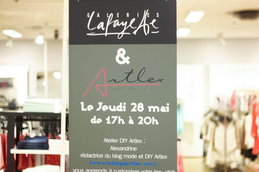 atelier DIY Galeries Lafayette Lyon Bron