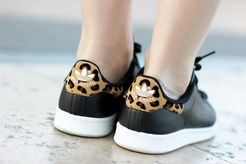 baskets Stan smith noir leopard Blog Mode Lyon Artlex