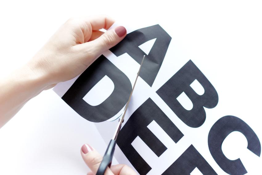 découper les lettres blog DIY Artlex