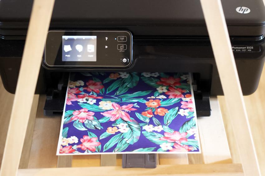 impression papier transfert blog DIY Artlex