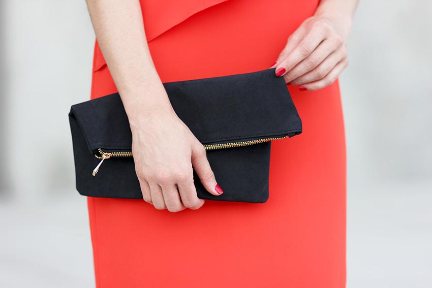 pochette zippée noire blog mode lyon Artlex