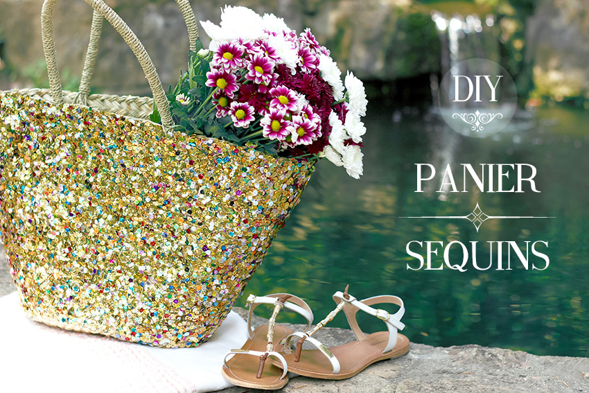 DIY panier sequins blog mode DIY Artlex