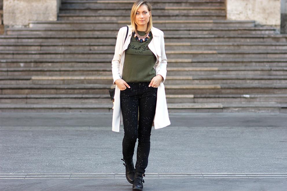 kaki style look militaire blog mode lyon Artlex