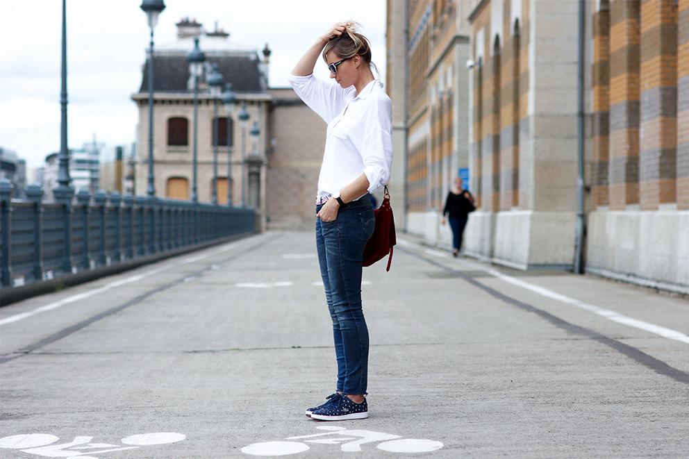 look chemise blanche baskets blog mode lyon Artlex