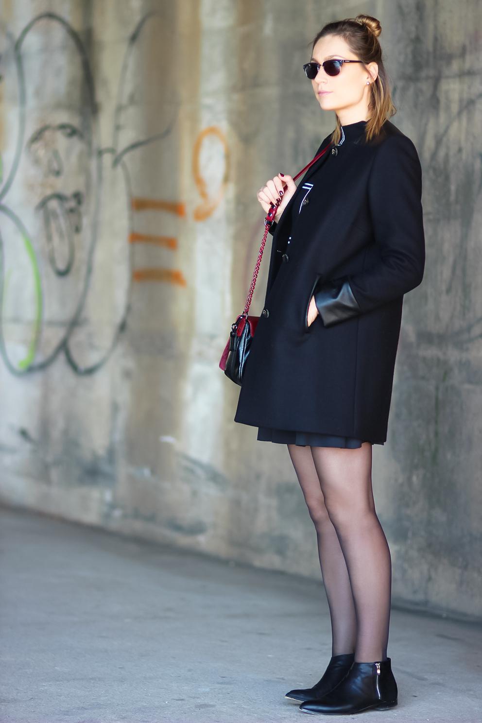 manteau noir hiver 1 2 3 Paris Blog mode Lyon Artlex
