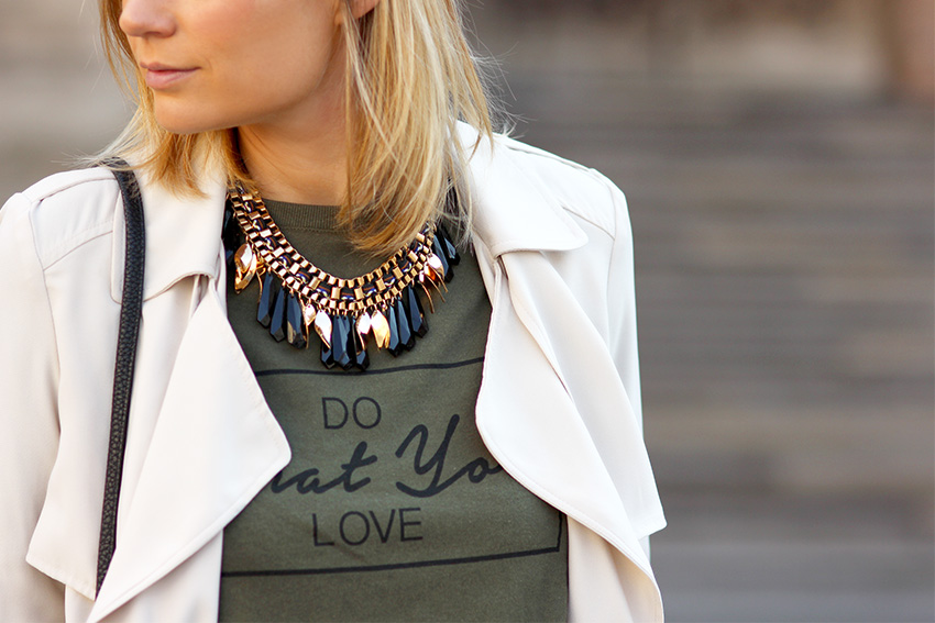 sweat shirt do what you love blog mode lyon