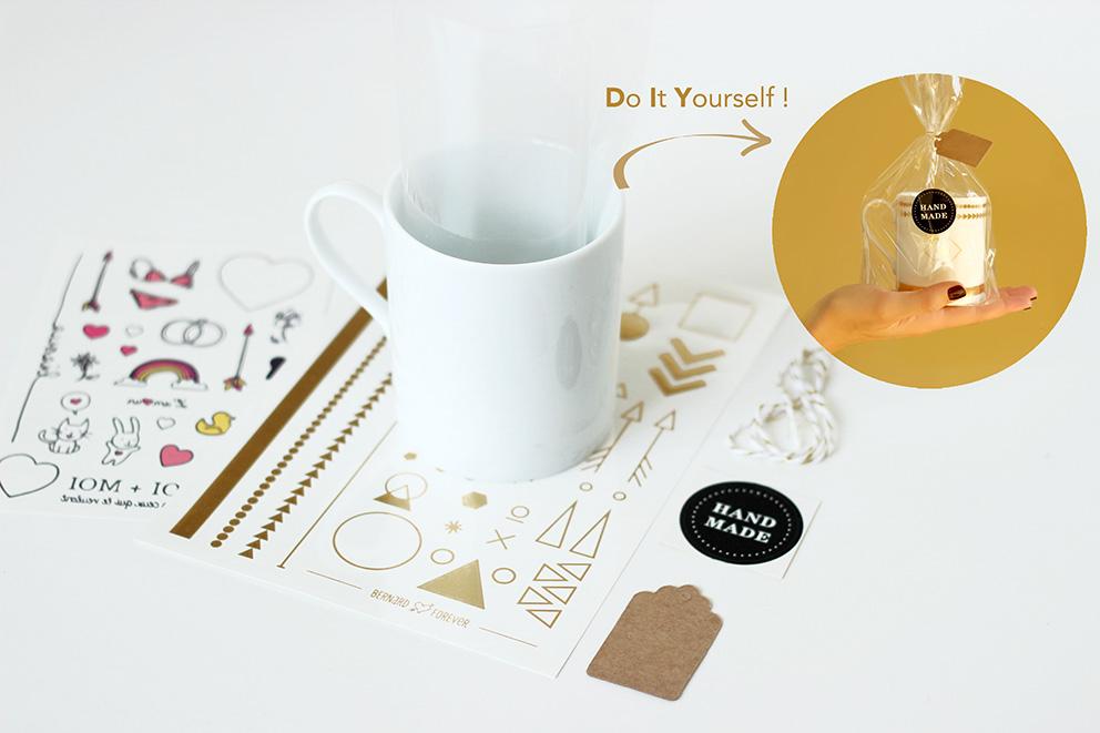 DIY tasse porcelaine