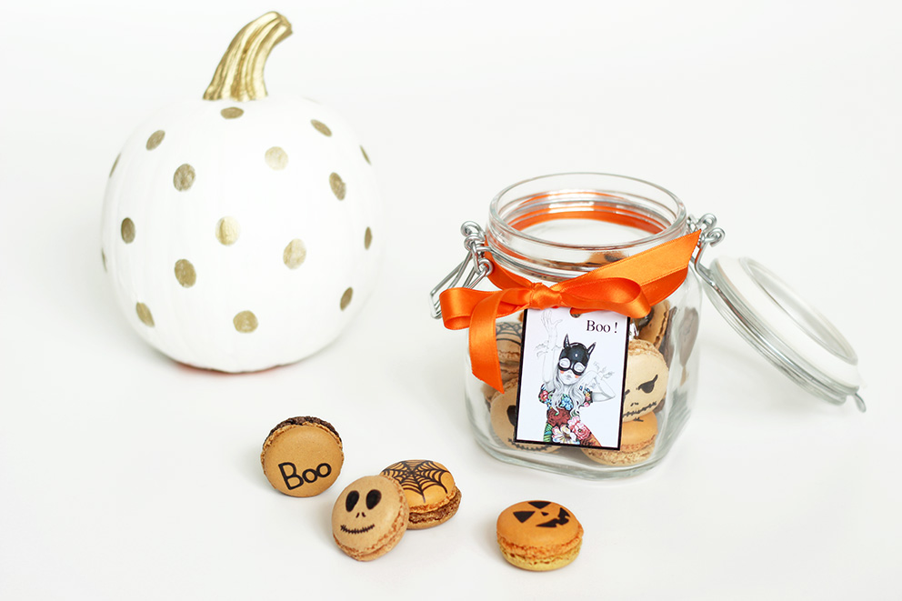 bocal à Macarons halloween DIY