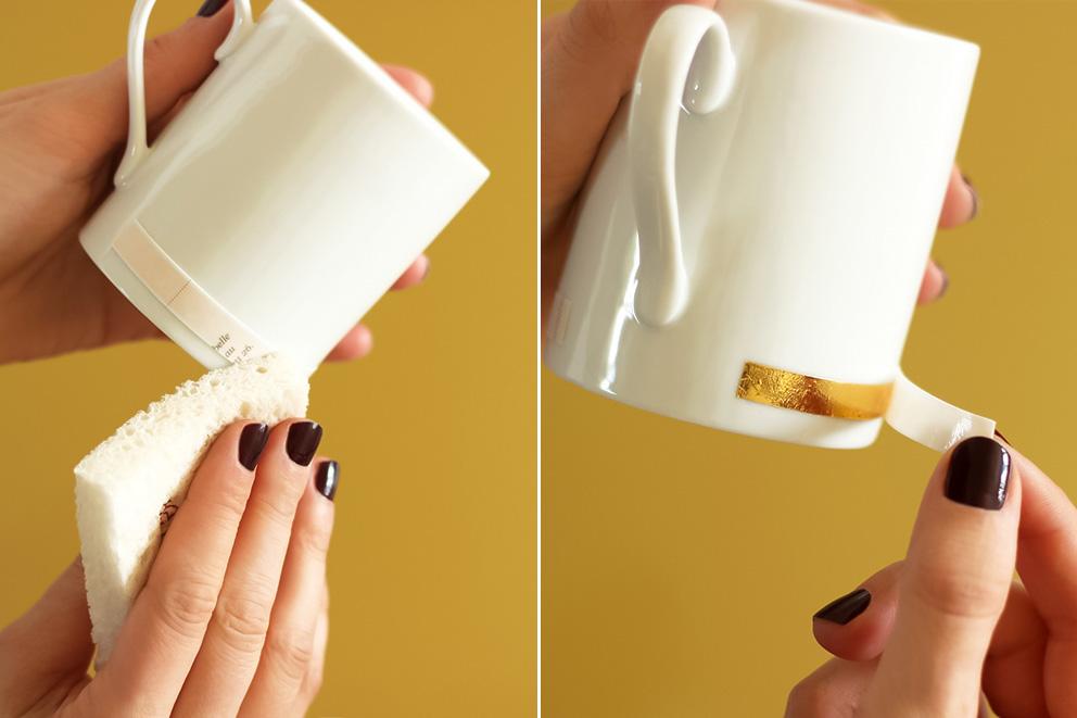 tasse en porcelaine DIY