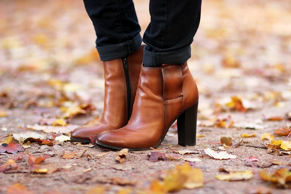bottines couleur cognac