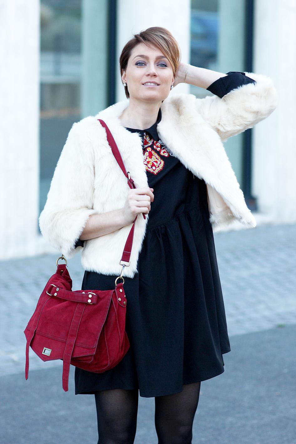 look manteau fourrure blanc blog mode lyon Artlex