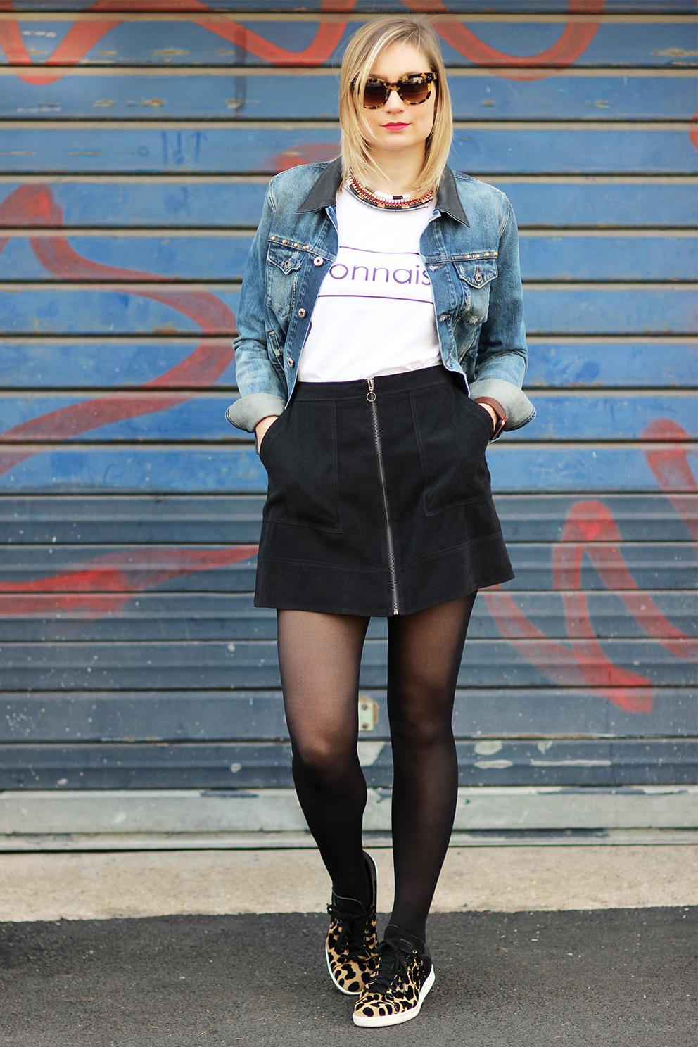 street look jupe noire blog mode lyon Artlex. 2