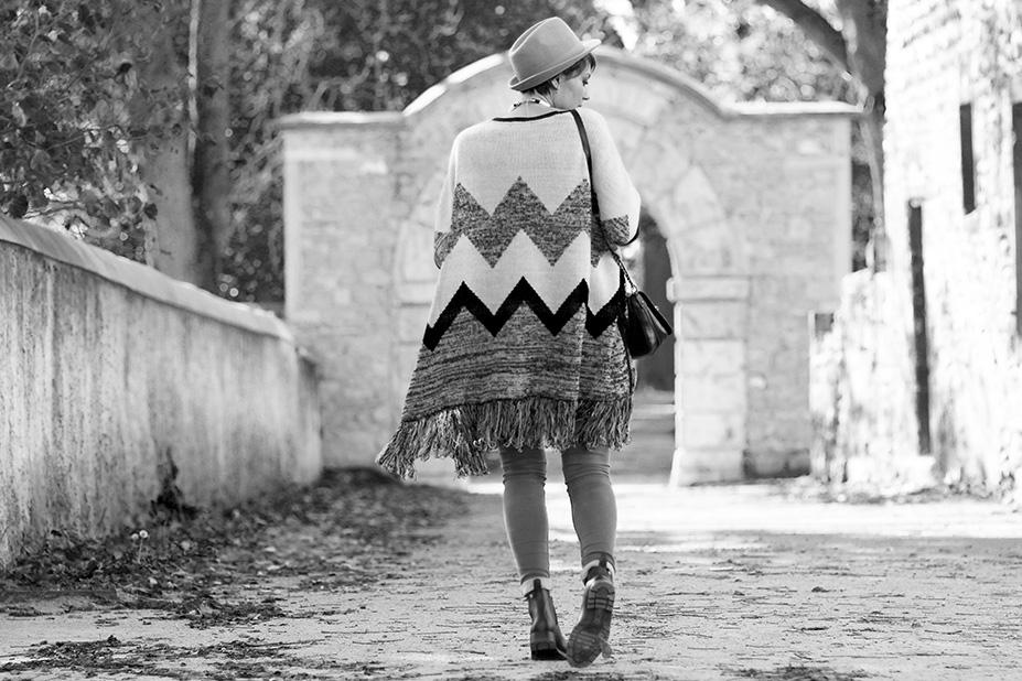 street style poncho blog mode lyon Artlex