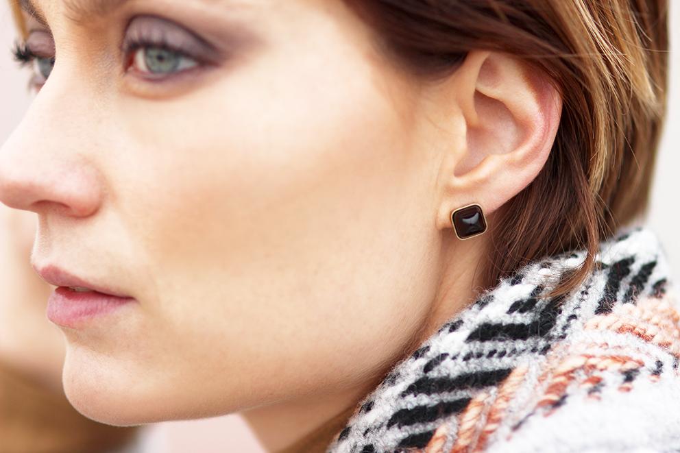 boucles d'oreilles fossil