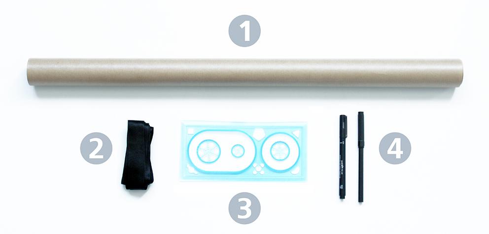 matériel DIY papier cadeau 2