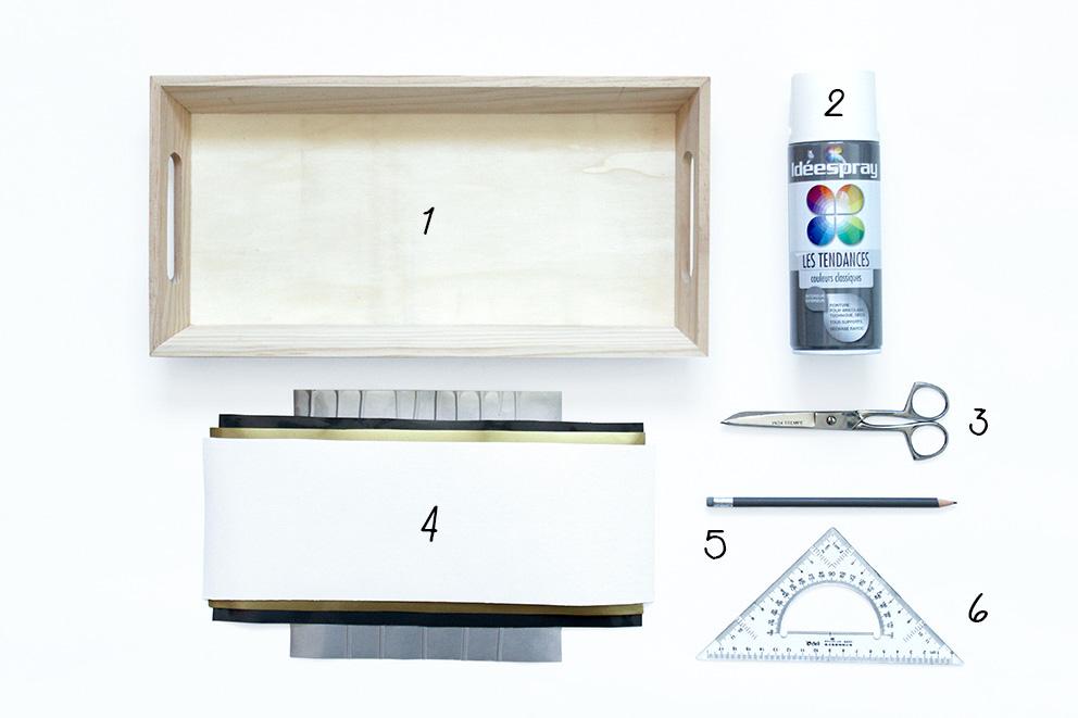 materiel DIY plateau blog Artlex