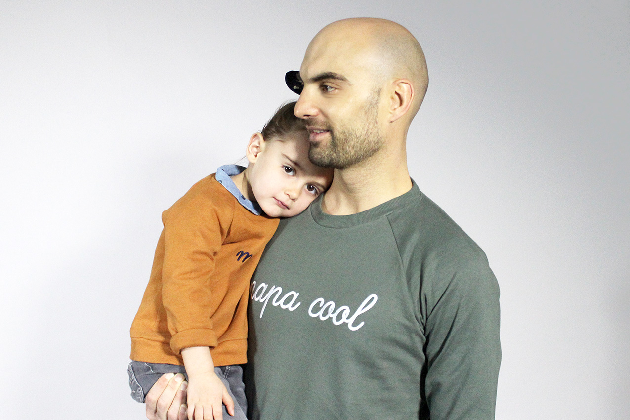 sweat homme papa cool emoi-emoi
