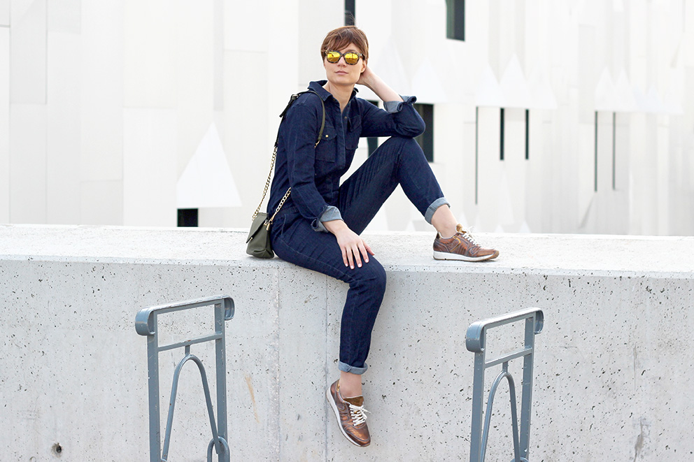 look combinaison jean blog mode lyon Artlex