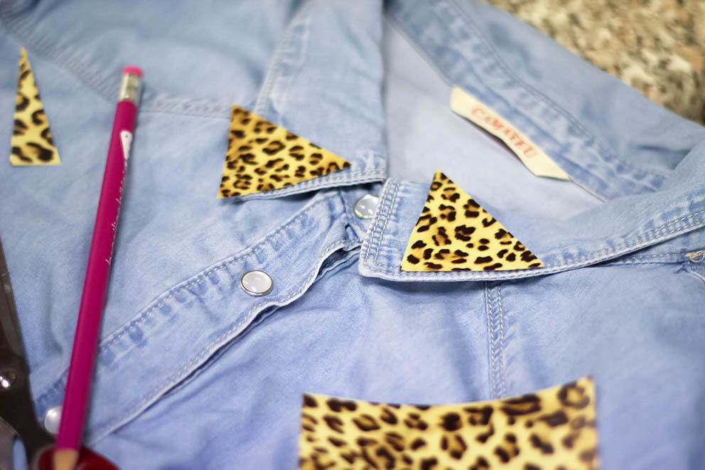 chemise jean leopard