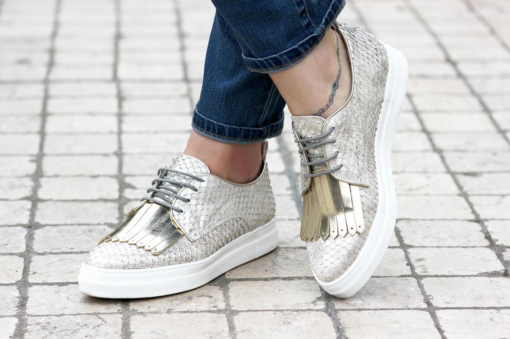 chaussures dorées blog mode lyon Artlex