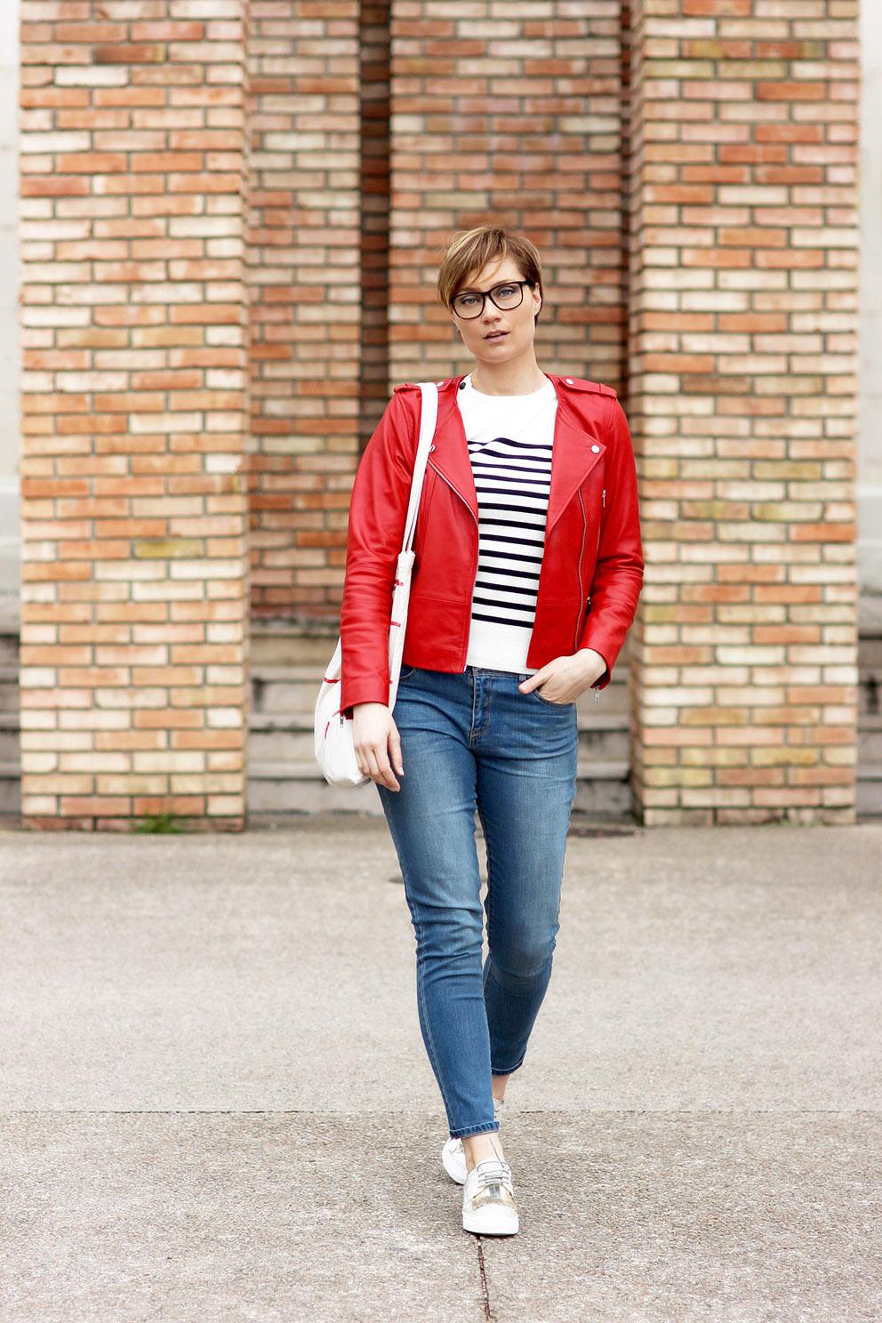 perfecto cuir rouge blog mode lyon Artlex