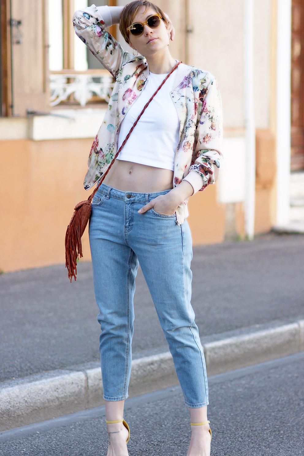 blog mode lyon bomber fleurs