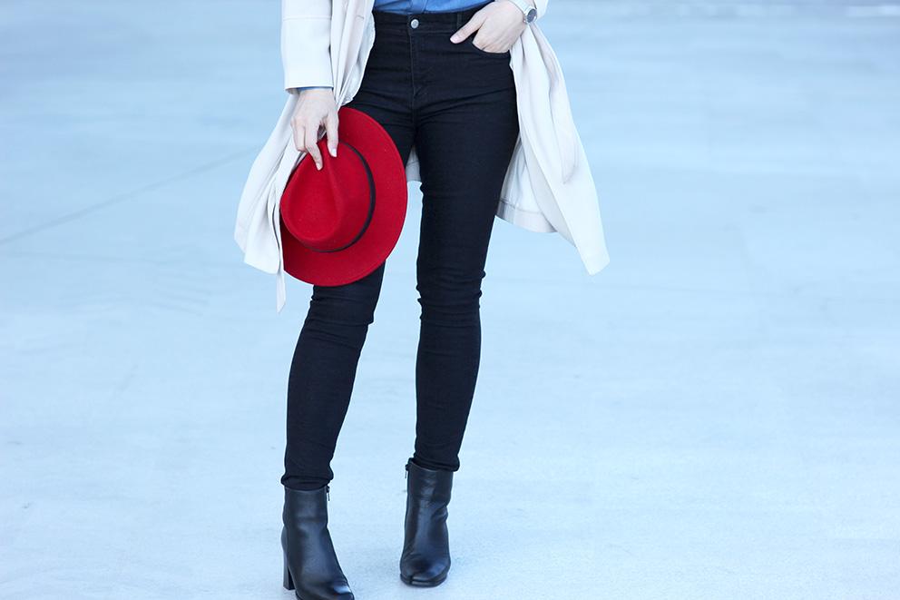 chapeau rouge mode blog artlex