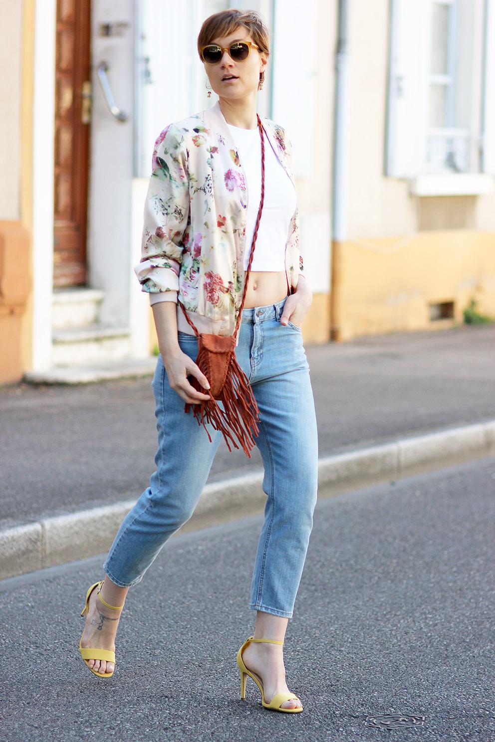 look blouson fleurs blog Mode Artlex
