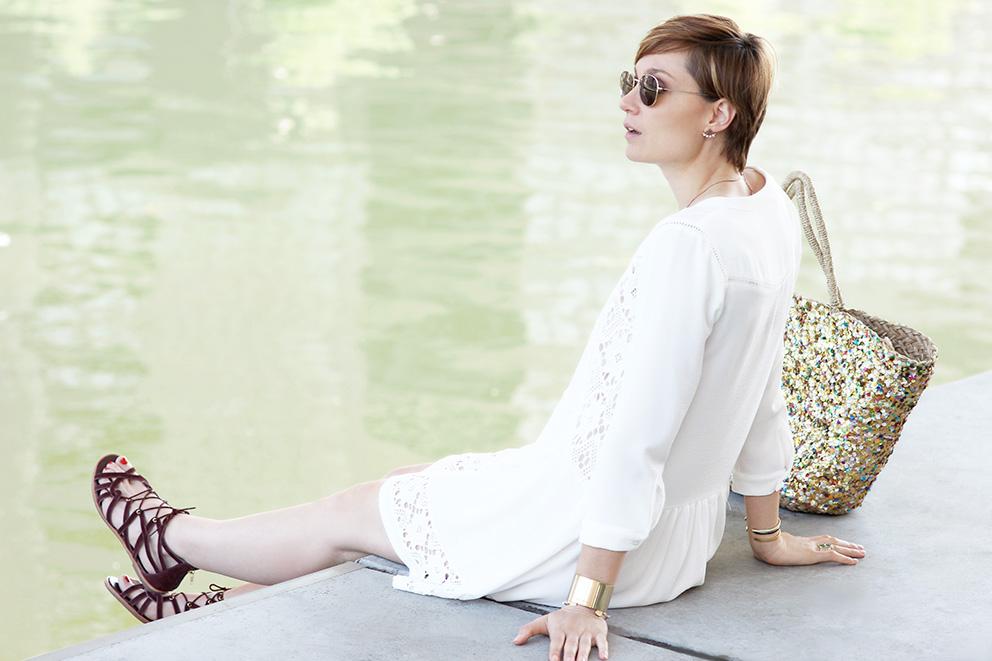 blog mode robe blanche artlex