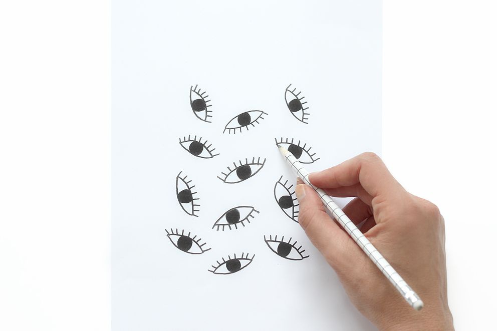 imprimé oeil blog DIY Artlex