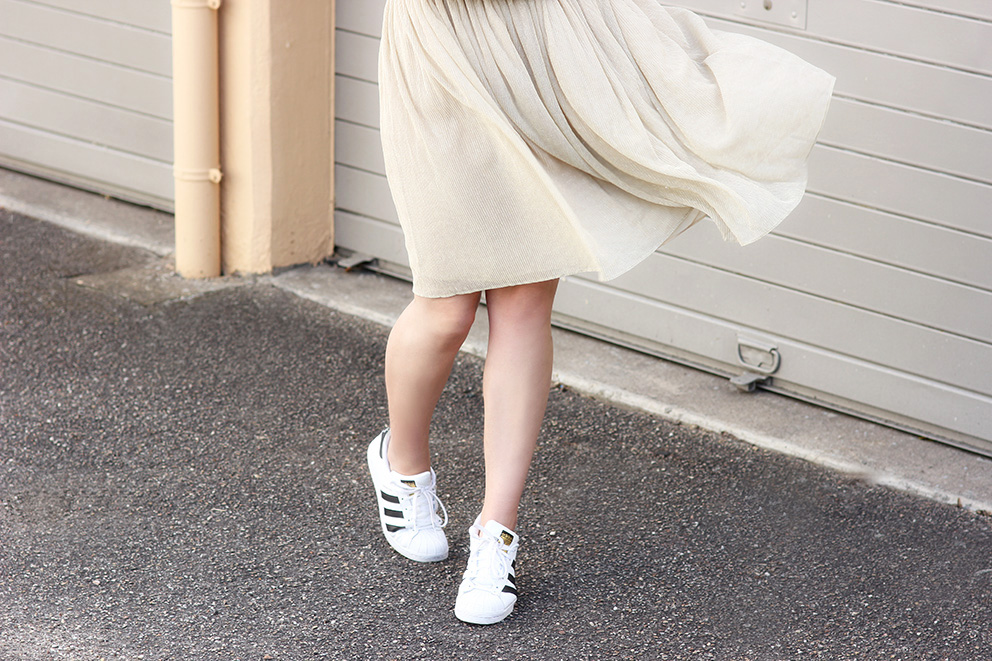 jupe doré blogueuse mode artlex