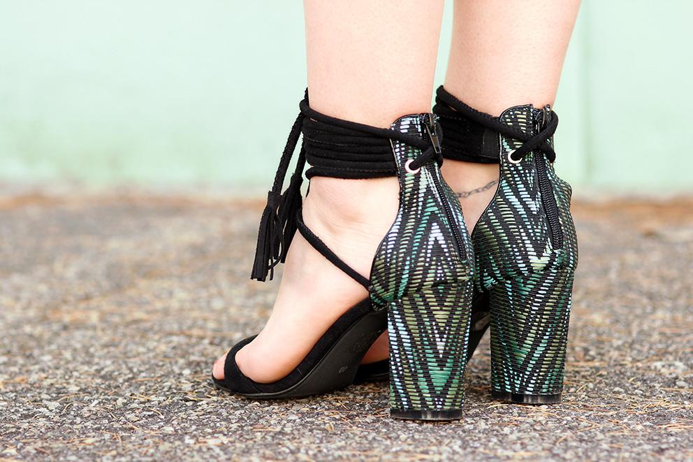 sandales imprimé tropical artlex