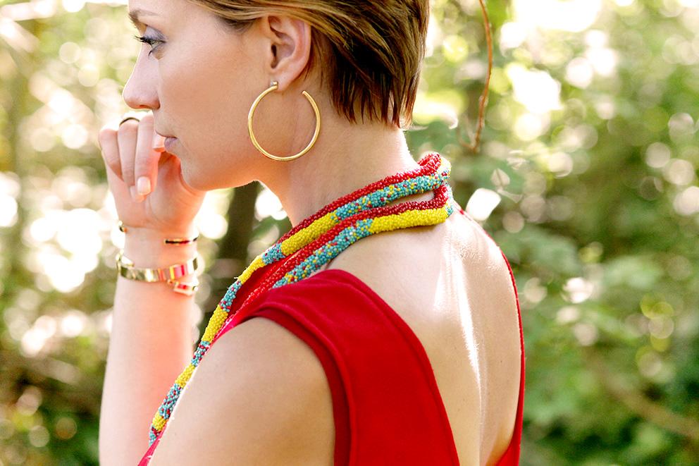 collier maasaï perles