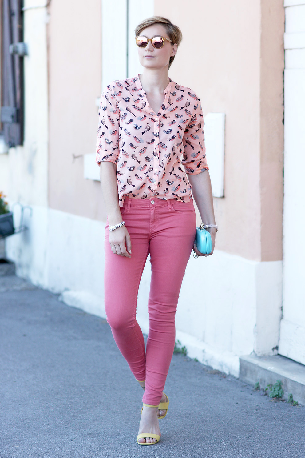 comment porter le jean rose Artlex