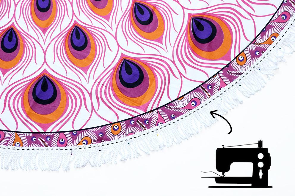 comment realiser une serviette ronde