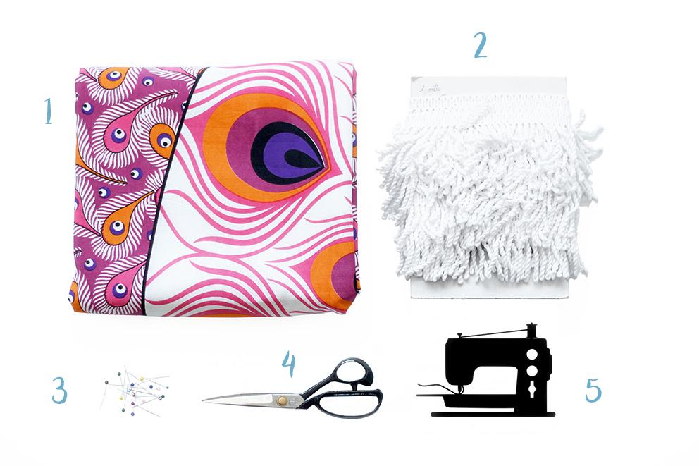matériel DIY serviette ronde