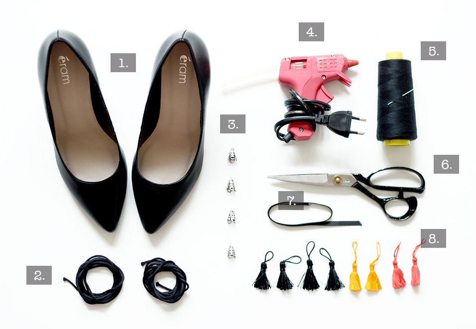 matériel DIY chaussures lacees