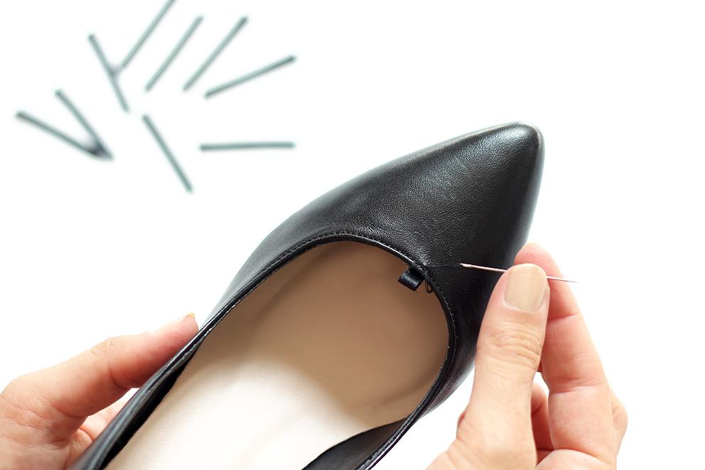réaliser des passants pour chaussures