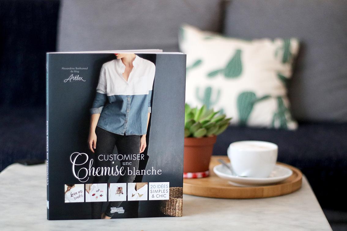 customiser une chemise blanche livre diy blog diy mode lyon artlex. Black Bedroom Furniture Sets. Home Design Ideas