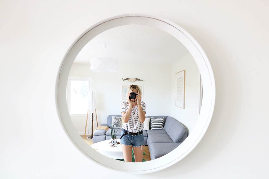 Diy miroir rond design pas cher blog diy mode lyon artlex for Grand miroir rond design