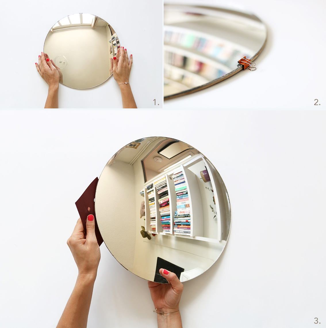 Customiser Un Cadre De Miroir diy miroir rond design pas cher - blog diy mode lyon | artlex