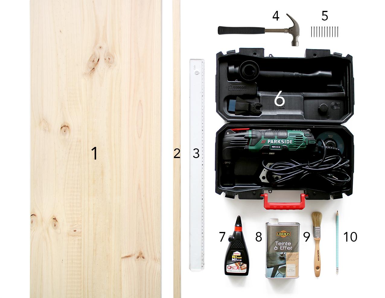 materiel-DIY-etagere