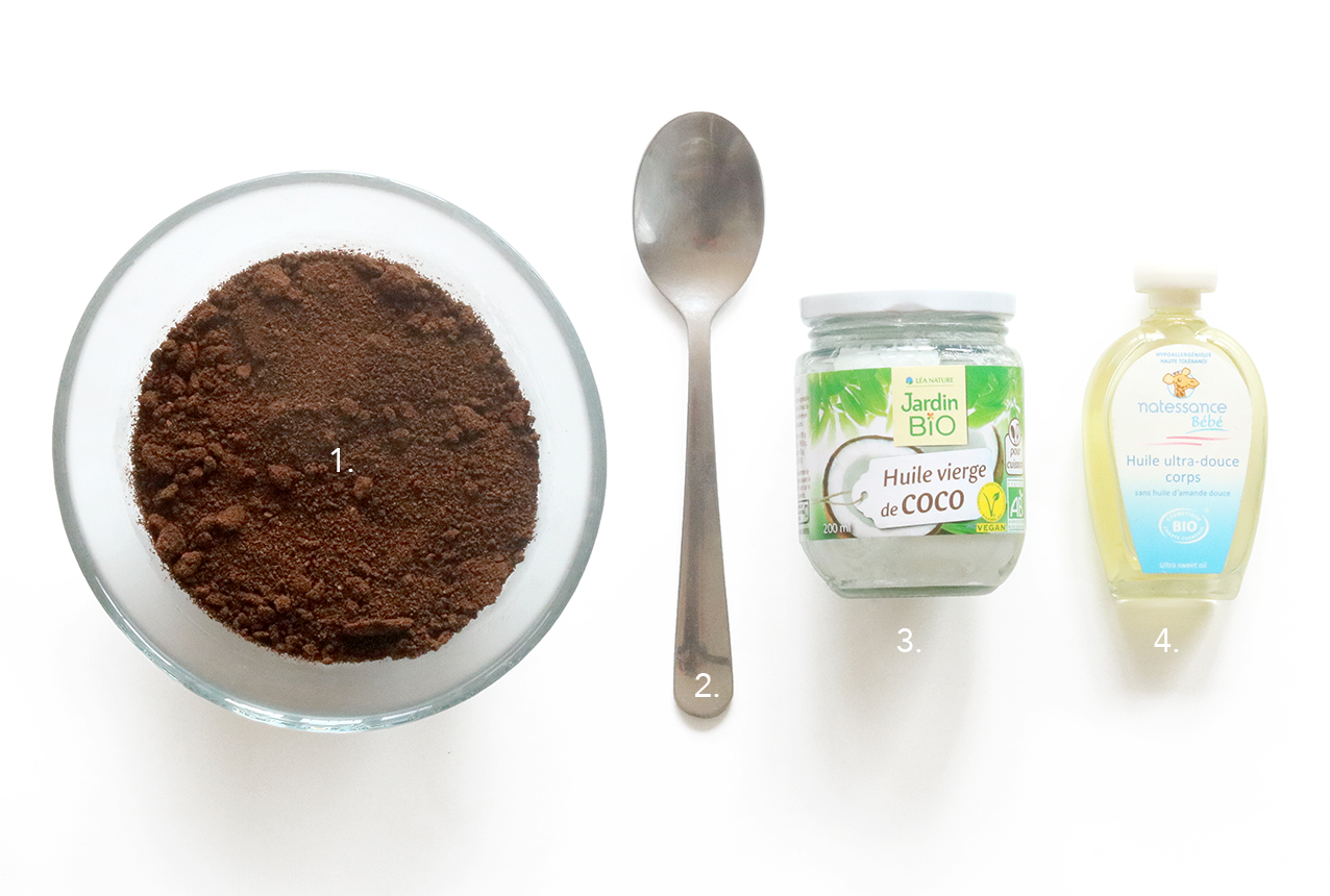 DIY exfoliant anti-cellulite scrub au café - Blog DIY Mode