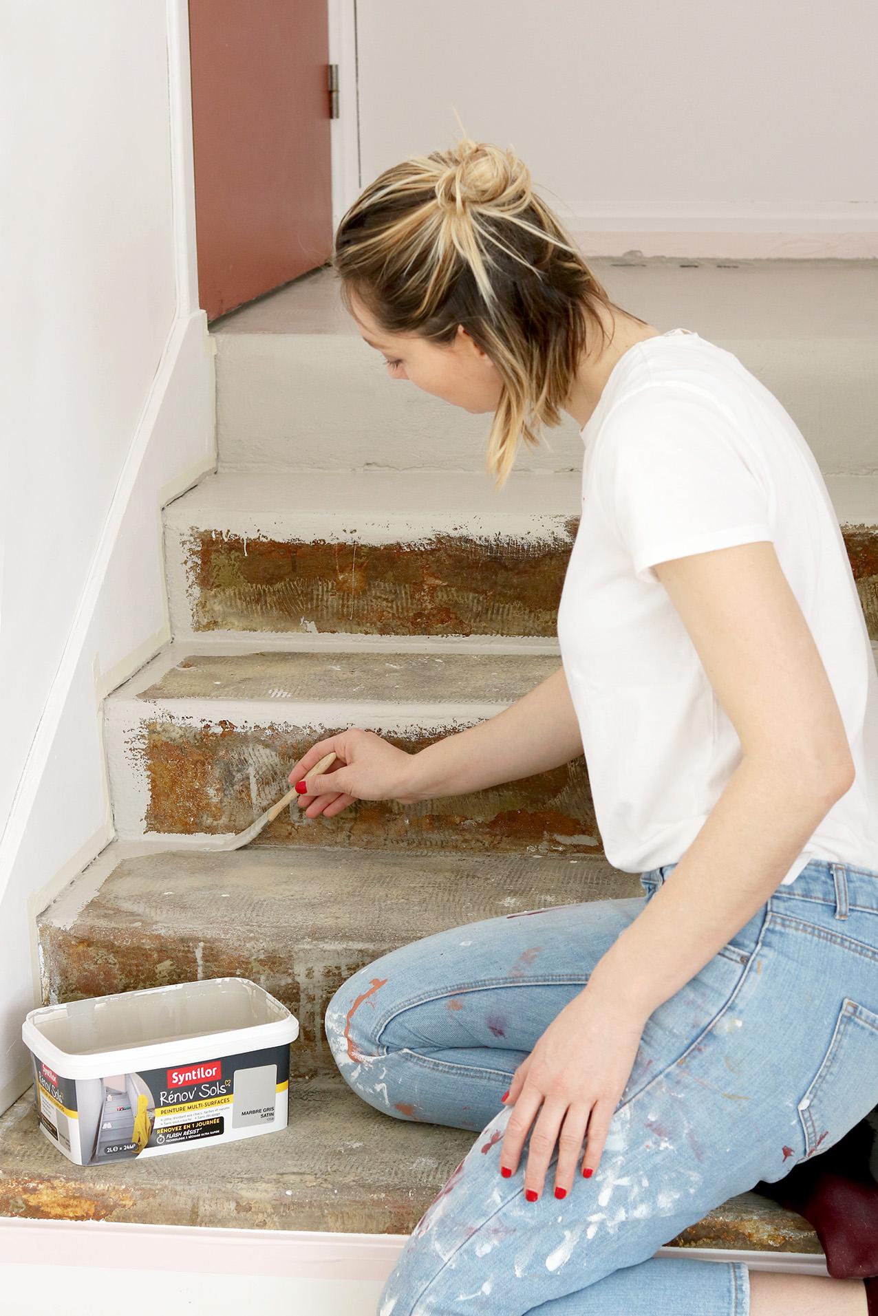 Peindre Un Escalier En Gris diy repeindre ses escaliers en béton - blog diy mode lyon