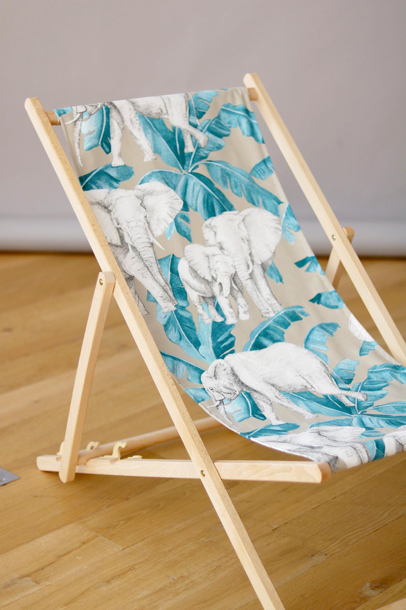 DIY chaise longue motifs