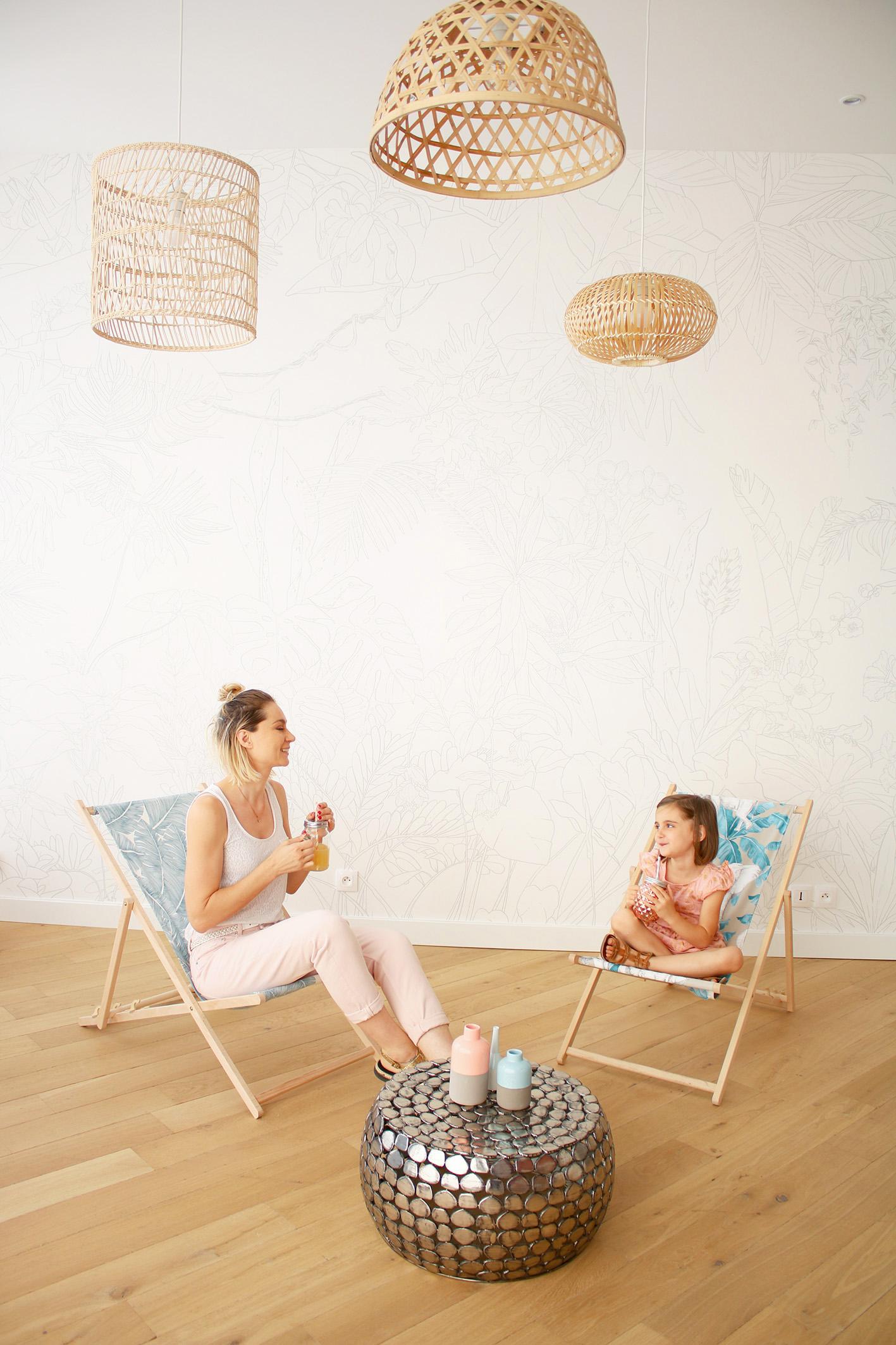 Comment Restaurer Une Chaise En Bois diy chaise longue en tissu tropicale - blog diy mode lyon
